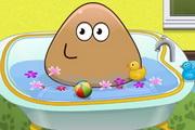 Pou Baby Bathing